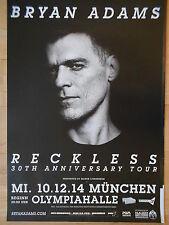 BRYAN ADAMS 2014 MÜNCHEN + orig. Concert Poster - Konzert Plakat A xx
