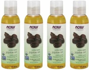 Now Solutions, Organic Jojoba Oil, Moisturizing Multi-Purpose Oil for Face, Hair