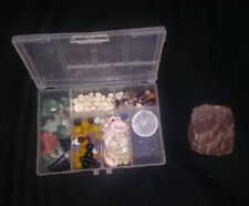 huge lot of carved/freeform gemstones FREE CASE!