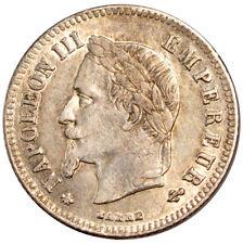 Monnaies, Second Empire, 20 centimes Napoléon III tête laurée #70861