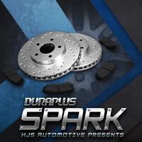 [Rear Cross Drilled Brake Rotors Ceramic Pads] Fit 2007-2013 Suzuki SX4