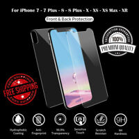 Tempered Glass Screen Protector for iPhone XS Front Back Kit Set of 2 9H