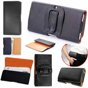 Universal Leather Belt Clip wallet Hip Book Case Cover For Various Mobile Phones