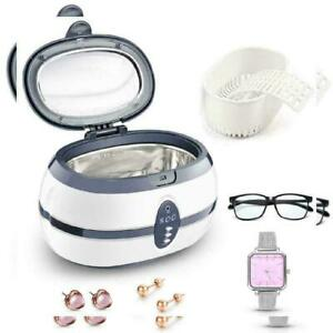 Digital Ultrasonic Cleaner 600ml Ultra Sonic Jewelry Glasses Watches Cleaning