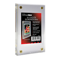 Ultra Pro Half Inch Thick Lucite Brick 4-Screw Card Holder Acrylic Display Slab
