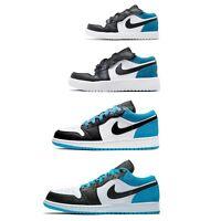 Nike Air Jordan 1 Low Racer Blue White Black Men Women Kids Family Shoes Pick 1