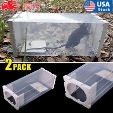 Humane Rat Trap Cage Live Animal Catcher Mouse Pest Rodent Control No Pollution