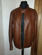 Mens ASOS Leather Look Biker Bomber Jacket Size Small