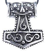 großer massiver Thorshammer Anhänger Edelstahl Thor Hammer Mjölnir Wikinger 68:
