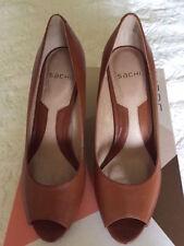 Leather Clubwear Open Toe Shoes for Women