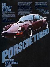 1977 Porsche Turbo Carrera Original Advertisement Print Art Car Ad J815 911