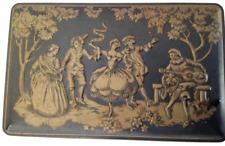 Vintage Tin Box Embossed Ornate Design Dancer Guitar Player Callard & Bowser's