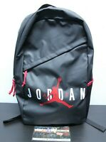 "Air Jordan Retro Black Red Bred XI Jumpman Logo Shoulder 18"" Book Bag Back Pack"