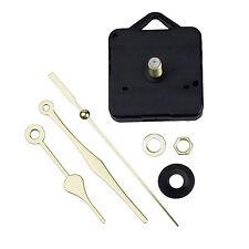 Quartz Clock Movement Mechanism Gold Hands DIY Repair Parts Kit LW