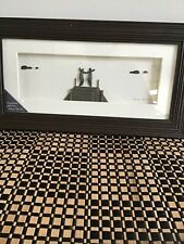 """Sharon Nowlan """"Anywhere With You� Espresso Finish 15�x 8� Dimensional Art -Nwt"""