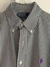 Polo Ralph Lauren Hemd Blau/Weiß gestreift Gr. S Custom Fit TOP Zustand