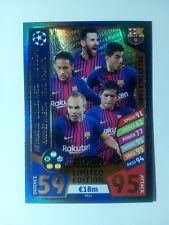 Match Attax 2017/18 PES1 FC Barcelona Gold Limited Edition Champions League