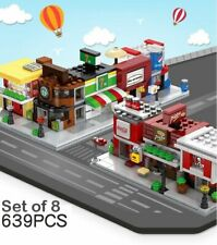 Sembo Blocks Mini World Little Shop City Building Street View Stores Set of 8