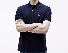 Lacoste Short Sleeve Classic Pique Polo Shirt - Mens 5 Navy Blue