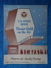Cass Timberlane - Belasco Theatre Playbill - February 15th, 1953 - Fredric March