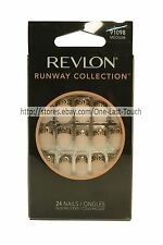 REVLON* 24 Glue-On Nails RUNWAY COLLECTION Medium Length LEOPARD TIPS #91098