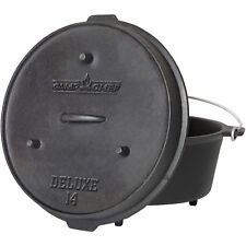 Camp Chef Pre-Seasoned 12-Quart CAST IRON DUTCH OVEN CAMPING COOKING OUTDOOR NEW
