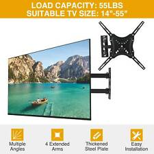 "Full Motion TV Wall Mount Bracket LED LCD Flat Screen 14""19""21""37""40""49""52""55"""