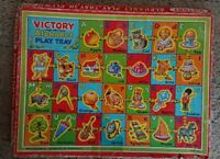 Victory Vintage Wooden Childrens 26 Pieces Puzzle Alphabet Play Tray