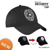 Security Cap Reflective Adjustable hat Guard Officer One Size Fits Adult Cotton