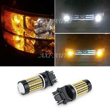 2x 3157 3757A 3457 Car Truck Dual Color Switchback LED Turn Signal Light Bulbs
