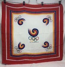 "34"" Large 1988 Seoul Korea Olympic Games Silk Scarf"