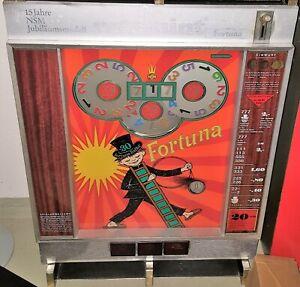 Geldspielautomat NSM Rotamint Fortuna von 1968, Sammlerstück