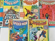 MARVEL TALES NO'S 185.189-192. SPIDER-MAN. VINTAGE 1986. (5 ISSUE RUN).