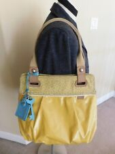 Fossil Key Per Yellow Coated Canvas Tote Shoulder Bag