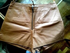 NEW Leather shorts size M