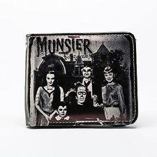 Rock Rebel Munsters Family Portrait Horror Tv Classic Movie Bi Fold Wallet