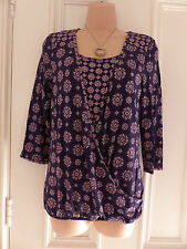 Gorgeous Per Una size 8 purple top with pinky beige patterns