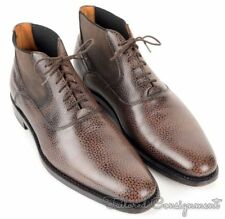 ZALIN Brown Freckled Grain Leather Mens Ankle Boots Shoes - EU 44 / US 11