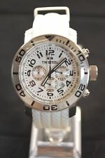 TW Steel TW94 Grandeur 45mm Chronograph White Silicone Watch