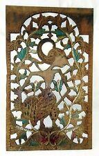 Vintage Javanese Wooden Carved Pierced Panel Wayang Motif (Eic)
