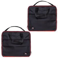 Pannier Liner Inner Bags To Fit TRIUMPH EXPEDITION Aluminium Pair (Red/Black)