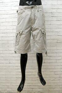 Bermuda Uomo G-Star Taglia 33 Shorts Cotone Pinocchietto Pantaloncino Chino Top