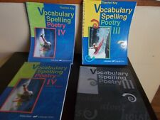5 Books on Vocabulary Spelling Poetry with Teacher Keys by A Beka