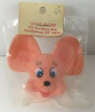 """Vintage Disney Mouse Rubber Head Craft/Finger Puppet Made In Hong Kong 3"""" High"""