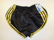 Retro Nylon Satin Sprinter Shorts S to 4XL, Black & Gold