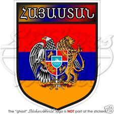 "ARMENIAN Shield ARMENIA Bumper Sticker 100mm (4"") Decal"