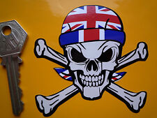 Union Jack BANDANA indossare Teschio e Ossa Incrociate personalizzato auto Hot Rod Bike Adesivo