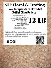 Silk Floral & Crafting Low Temperature Hot Melt Pots & Skillet Glue 12 Pounds