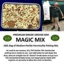 THG - Orchid MEDIUM Perlite/Vermiculite POTTING 'MAGIC MIX' 100L Garden Compost