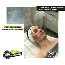 Acrylic Sneeze Guard/Box for Esthetician & Beauty Salons, Ships Next Day